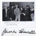James Leavelle Signed 14 x 11 Photo of Jack Ruby Shooting Lee Harvey Oswald, as Leavelle Was Handcuffed to Oswald -- With a Handwritten Statement by Leavelle Concerning the Event