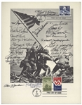 Joe Rosenthal Signed Iwo Jima Flag Raising 8.5 x 11 Photo -- Also Signed by 23 Medal of Honor Recipients