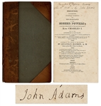 John Adams Signed Copy of A Discourse -- The Powerful Pro-American Independence Book Called The Morning Gun of the Revolution