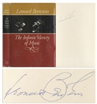 Leonard Bernstein Signed First Edition of His Musical Memoir, The Infinite Variety of Music
