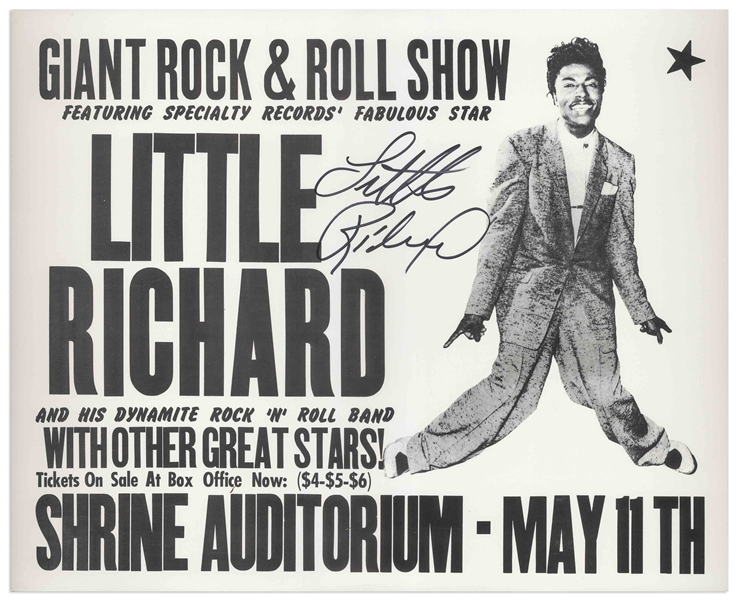 Little Richard Signed Concert Poster