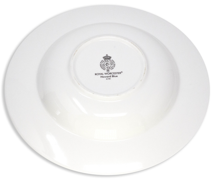 Margaret Thatcher Personally Owned China From Early 1980s, From Her Time as Prime Minister -- Soup Bowl by Royal Worcester