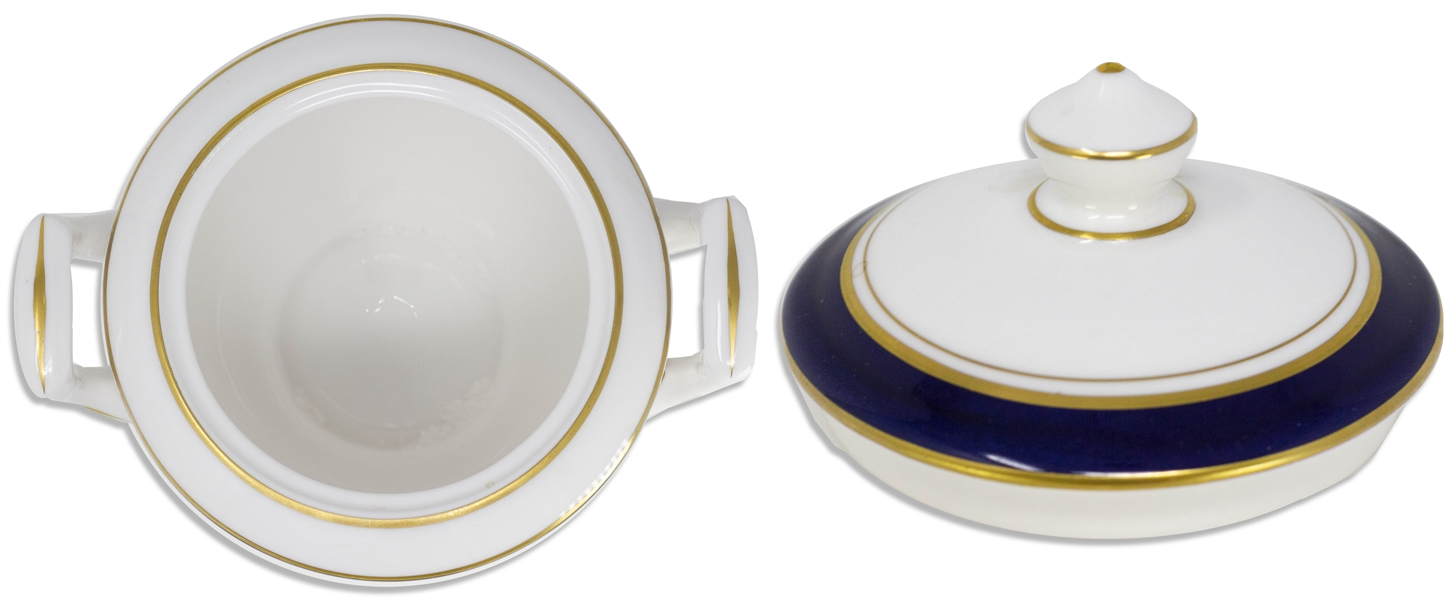 Margaret Thatcher Personally Owned China From Early 1980s, From Her Time as Prime Minister -- Sugar Bowl by Royal Worcester