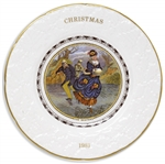 Margaret Thatcher Personally Owned Christmas Plate, Made of Porcelain China, Dated 1981