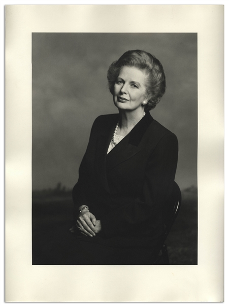 Large 12'' x 16'' Photograph of Margaret Thatcher, Taken by Terence Donovan in 1995