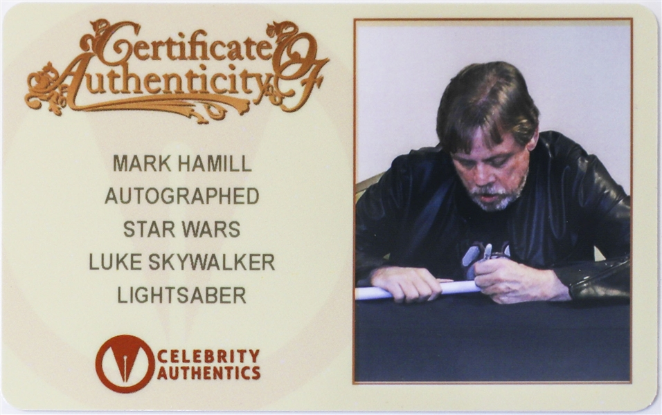 Mark Hamill Signed Lightsaber