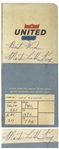 Martin Luther King, Jr. Signed Airplane Boarding Pass -- Full, Uninscribed Signature