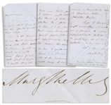 Mary Shelley Autograph Letter Signed Regarding Letters Written by Her Late Husband, Percy Shelley -- ...I would truly love to see these letters of my husband again, if they indeed exist...