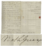Major General Nathanael Greene Autograph Letter Signed Shortly After the Revolutionary War -- Heavy in Debt Due to Paying for His Soldiers Clothing During the War, Greene Here Negotiates Money Owed