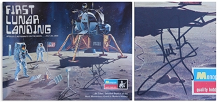 Neil Armstrong Signed First Lunar Landing Model Kit Box -- With Steve Zarelli Space Authentication COA