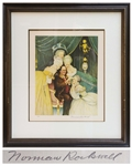 Norman Rockwell Signed Artist Proof Lithograph for Bens Belles -- Fun Illustration Portrays Benjamin Franklin as the Ladies Man of Parisian Intelligentsia