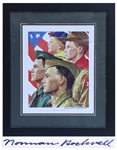 Norman Rockwell Signed Print of Growth of a Leader Showing the Progression of a Boy Scout from Cub Scout to Scoutmaster