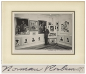 Norman Rockwell Signed 10 x 8 Photo