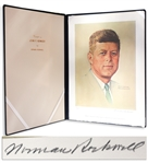 Norman Rockwell Signed Lithograph of John F. Kennedy -- Appeared as the Cover of The Saturday Evening Post in 1960