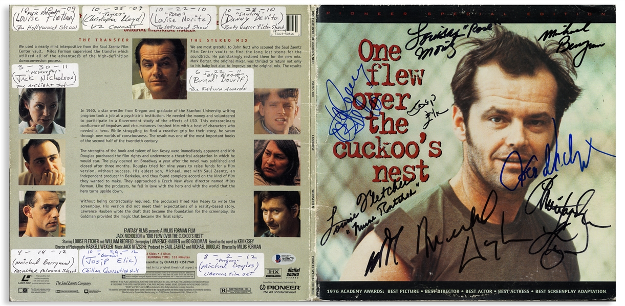 ''One Flew Over the Cuckoo's Nest'' Cast-Signed Album Including Jack Nicholson's Signature -- With Beckett COA