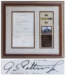 George S. Patton Letter Signed From 1923 Plus Two of His Military Insignia -- ...I am not real famous, but...will send you a couple items of insignia of mine...I am a Fighting soldier...