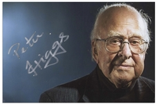 Peter Higgs Signed Photo -- The Nobel Prize Winning Physicist Who Predicted the Existence of the God Particle