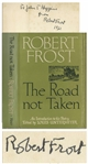 Robert Frost Signed Copy of His Poetry, The Road Not Taken