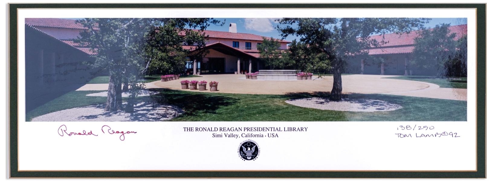 Ronald Reagan Signed Panoramic Photo of His Presidential Library -- Limited Edition Photo Measures 17'' x 8''
