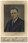 Franklin D. Roosevelt Portrait Signed as President -- With White House Letter Dating the Signature to 1933
