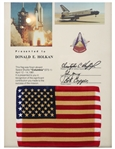 Space-Flown U.S. Flag From the First Space Shuttle Mission, Columbia STS-1