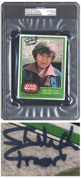 Shelagh Fraser Signed ''Star Wars'' Topps Card -- Encapsulated by PSA/DNA
