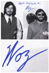 Steve Wozniak Signed 10 x 8 Photo, Writing Apple Employee #1 -- With PSA/DNA COA