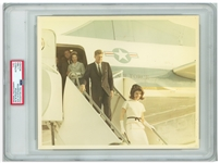 Original 10 x 8 Photo of John and Jackie Kennedy Taken by Cecil W. Stoughton the Day Before the Assassination -- Encapsulated & Authenticated by PSA as Type I Photograph