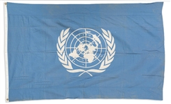 United Nations 6 x 4 Flag, Circa 1946 -- An Early Flag of the Nascent Organization, Slightly Different Than Its Current Design