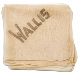 Wallis Simpson, the Duchess of Windsor Owned Silk Handkerchief, Embroidered With Wallis in Satin