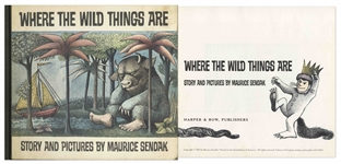 Rare First Printing of Where the Wild Things Are by Maurice Sendak, With First Printing Dust Jacket, Published November 1963