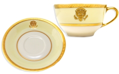President Woodrow Wilson Official White House China Cup & Saucer -- Fine Condition