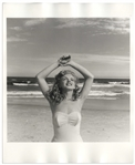 Original 8 x 10 Photograph of Marilyn Monroe Taken by Andre de Dienes in 1949 -- The Famed Tobey Beach Photo Session
