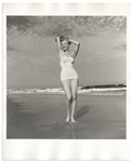 Original 8 x 10 Photograph of Marilyn Monroe Taken by Andre de Dienes in 1949 -- The Famed Tobay Beach Photo Session