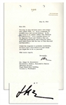 Dwight Eisenhower Typed Letter Signed From 1962 Regarding the Supreme Court -- ...In the May issue is an article called The Pinnacle of Controversy...a partial history of the Supreme Court...