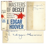 J. Edgar Hoover Signed Masters of Deceit The Story of Communism in America and How to Fight It