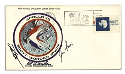 Apollo 15 Crew-Signed NASA Insurance Cover -- From Al Wordens Personal Collection, and Also With His Signed COA