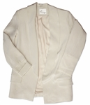 Kim Kardashian Owned Cream Silk Blazer
