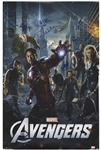 The Avengers Cast-Signed Poster -- Signed by Creator Stan Lee and 8 Cast Members of the 2012 Blockbuster Film