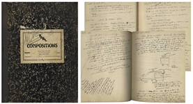 Sheldon Mayer Handwritten Journal From 1951-55, Bursting With Creative Thoughts and Story Ideas -- Lot Also Includes Dozens of Journal Pages Including His Feelings About Working for M.C. Gaines