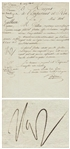 Napoleon Bonaparte Military Document Signed in 1806 as Emperor of France