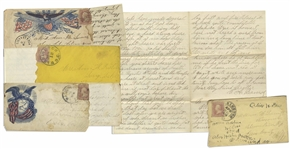 Lot of 13 Letters by a Civil War Soldier in the 1st Vermont Heavy Artillery, Wounded at Cedar Creek -- ...Our company has 13 men left out of 152. I am one of that number that has been spaired...