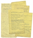 "Moe Howards Handwritten Manuscript Draft for His Autobiography, ""Moe Howard and the Three Stooges"" -- 78 Pages of Humor & Anecdotes, Revealing Personal Details of Moes Career & Family"