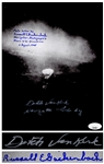 Dutch Van Kirk & Russell Gackenbach Signed Photo of the Hiroshima Bombing -- With JSA COA