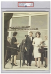 Original 8 x 10 Photo of John and Jackie Kennedy Taken by Cecil W. Stoughton in Houston the Day Before the Assassination -- Encapsulated & Authenticated by PSA as Type I Photograph