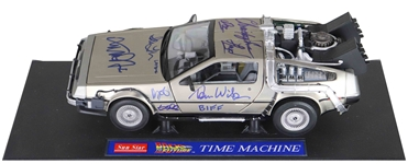Back to the Future Cast-Signed DeLorean