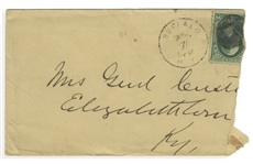 George Custer Handwritten Envelope Addressed to his Wife, Mrs. Genl Custer
