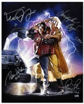 Back to the Future Cast-Signed 16 x 20 Photo, With Drew Struzan Artwork