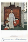 Norman Rockwell Large Signed Print of His The Saturday Evening Post Cover, The Truth About Santa