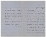 19th Century Russian Novelist Ivan Turgenev Autograph Letter Signed -- Praising Gogols Story The Old World Landowners: ...I cannot help but regret that I am not its author...